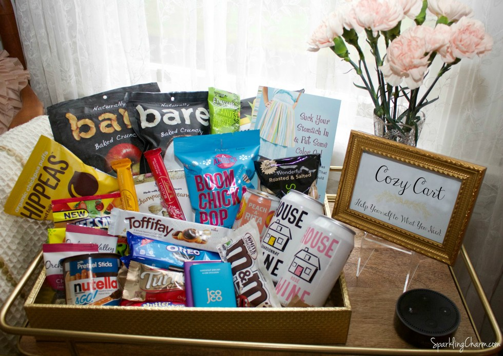 DIY: Create A Sparkling Charm Guest Room Cozy Cart! (Free Printable)