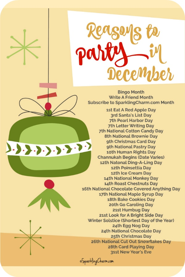 Reasons to Party in December
