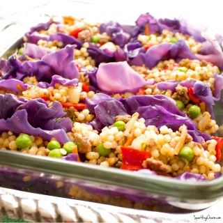 Rainbow Cous Cous Cabbage Cups