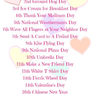 Reasons to Party in February