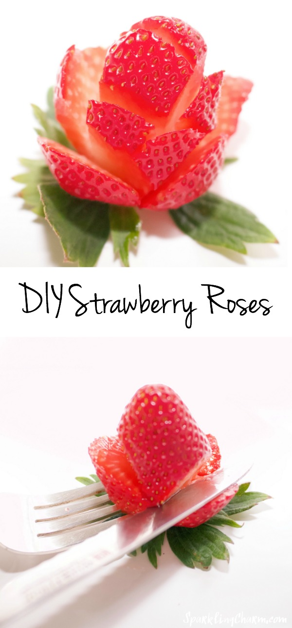 DIY Strawberry Roses