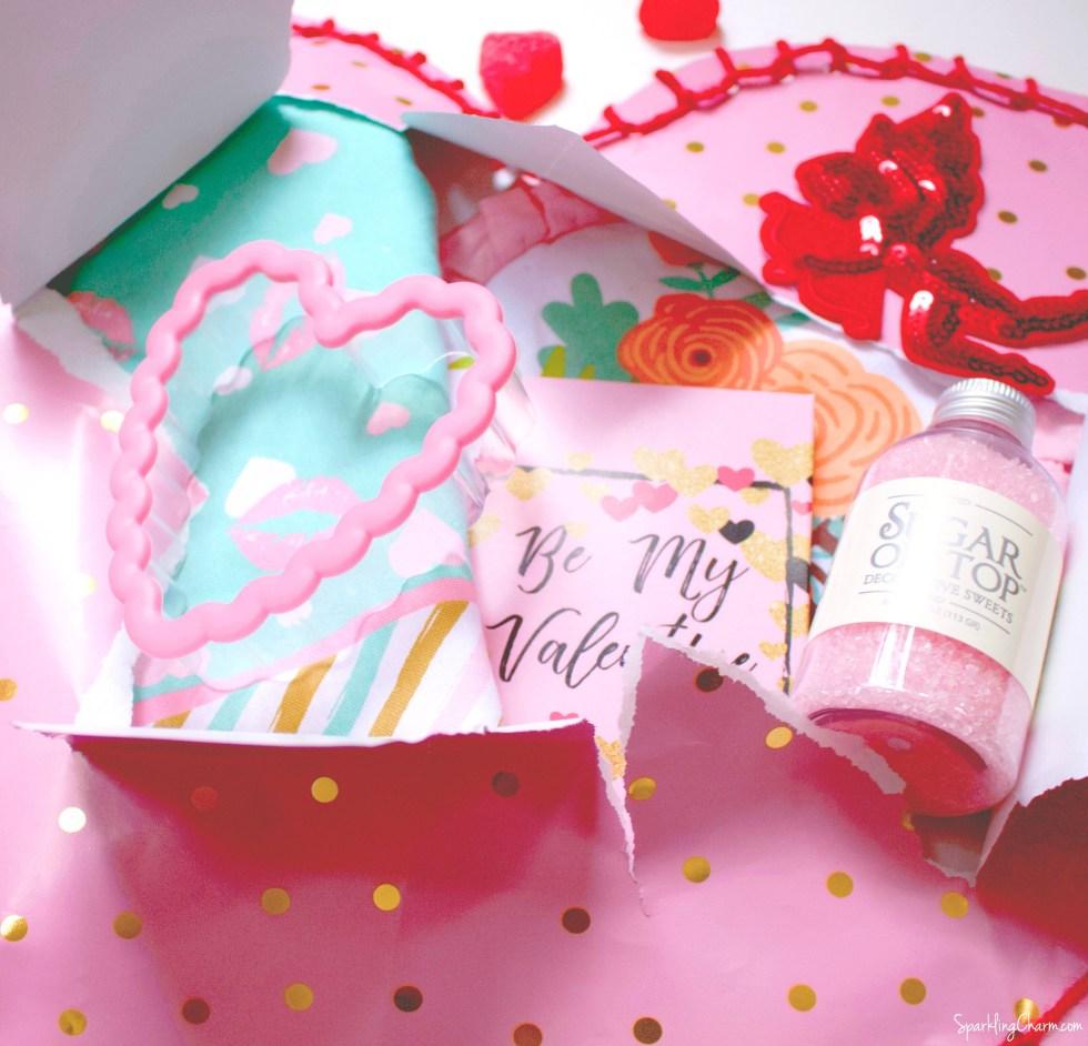 DIY Valentine Blanket Stitch Wrap - Sparkling Charm