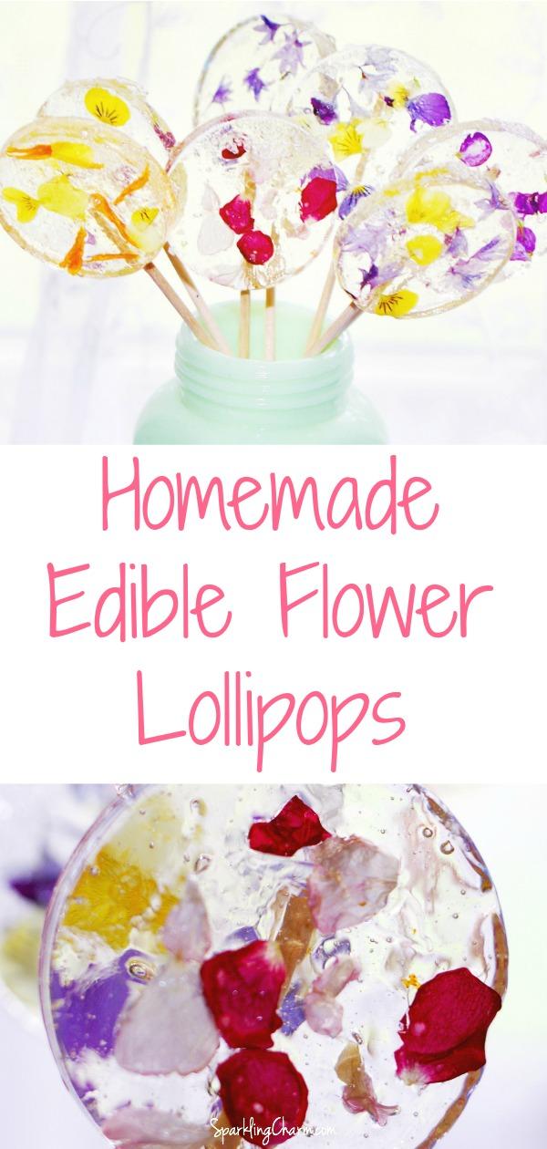 Homemade Flower Power Lollipops - Sparkling Charm