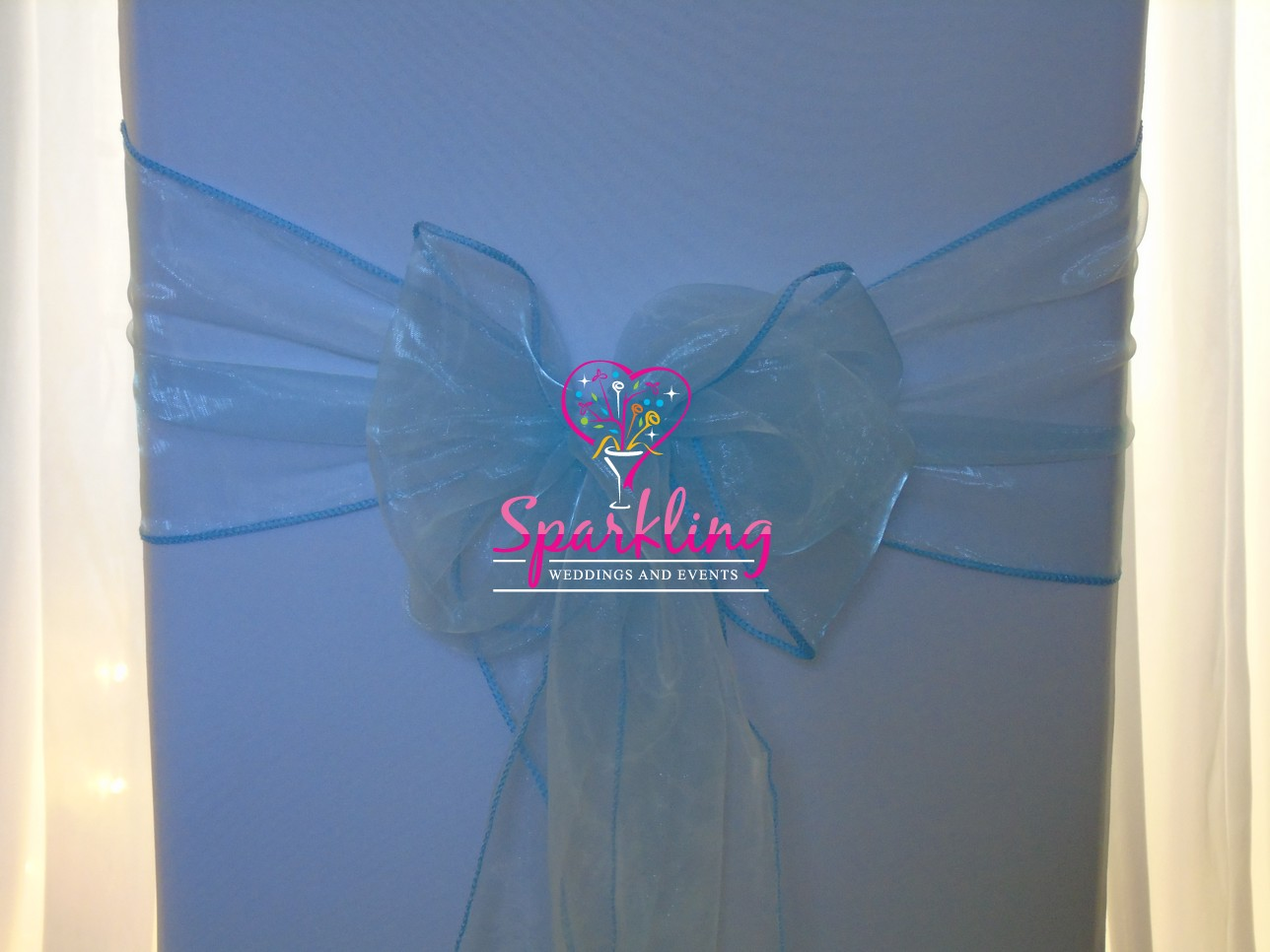 baby blue spandex chair covers rocker game and bows