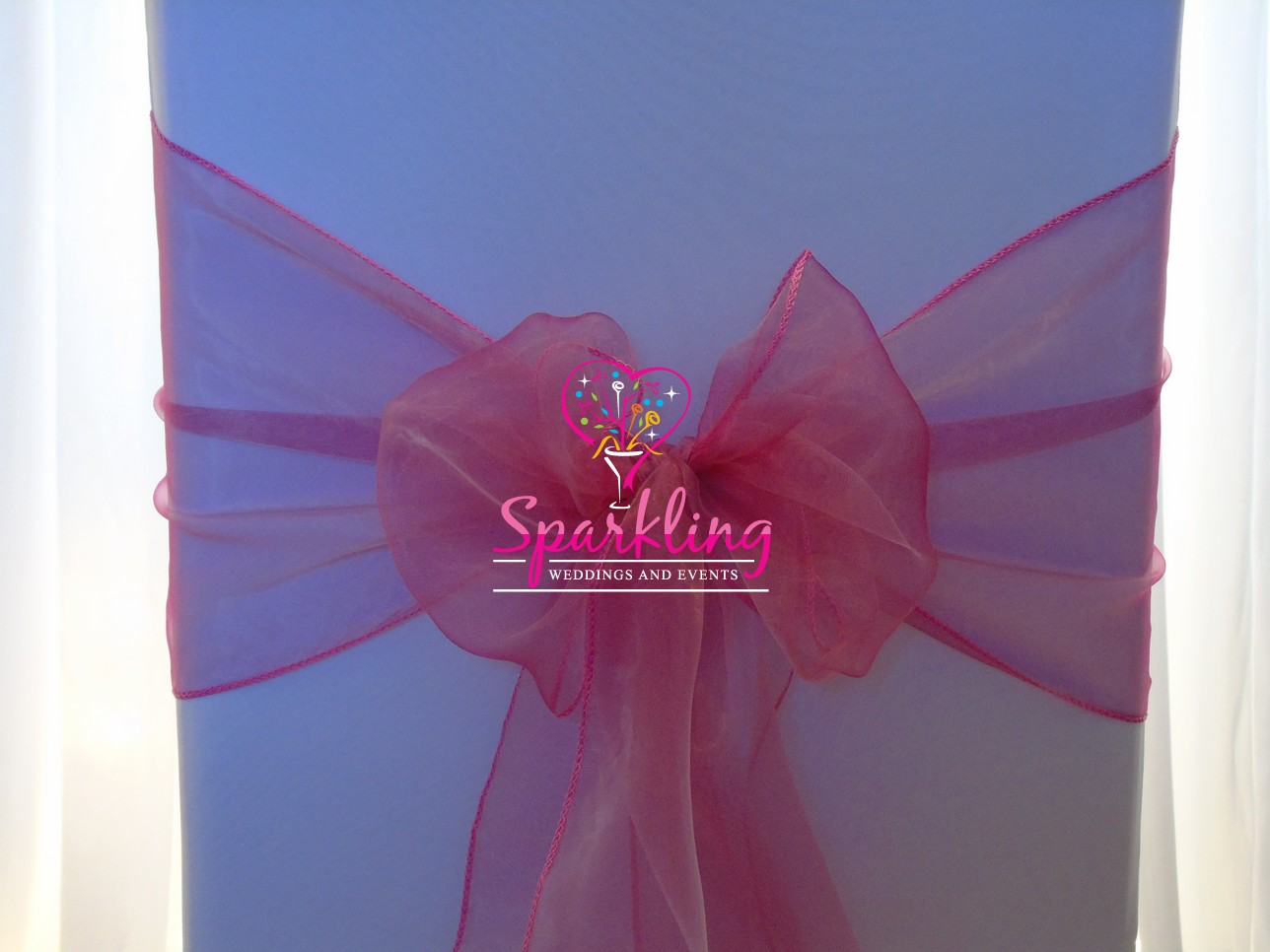 chair covers with pink bows elegance wedding organza sash dusky