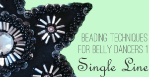 Beading techniques for belly dancers single line