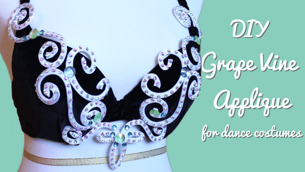 DIY Wire Rhinestone Appliques for Dance Costumes - Grape Vine Applique