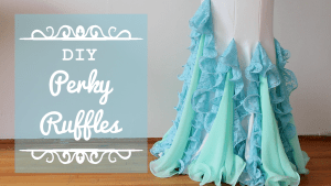 DIY Perky Ruffles - Flounce ruffles with fishing line