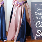 DIY Circle Skirt - Reversible, double-layer, double-slit