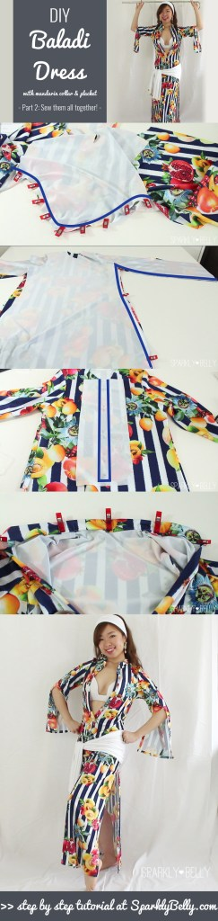 DIY Baladi Dress Saidi Dress with a mandarin collar and placket pt 2