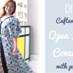 Caftan open front cover-up with pockets DIY