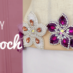 DIY Brooch - How to Make a Brooch from an Applique