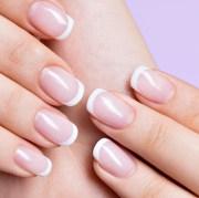 nail shapes - sparkly polish nails