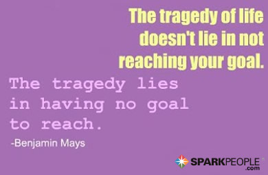 Motivational Quote - The tragedy of life doesn't lie in not reaching your goal. The tragedy lies in having no goal to reach.