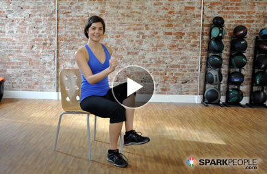 chair exercises on cable tv recliner garden chairs argos 11 minute cardio workout video sparkpeople