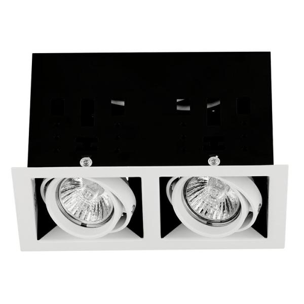 Mgu102ss - Adjustable Twin Recessed Downlight In Satin