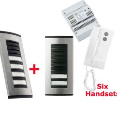 Spotlight Wiring Diagram Uk Centurion Keypad Kit6taag - Bpt 6 Way Audio Door Entry Kit: 2 Targha Button Panels, White Agata C200 Handsets ...