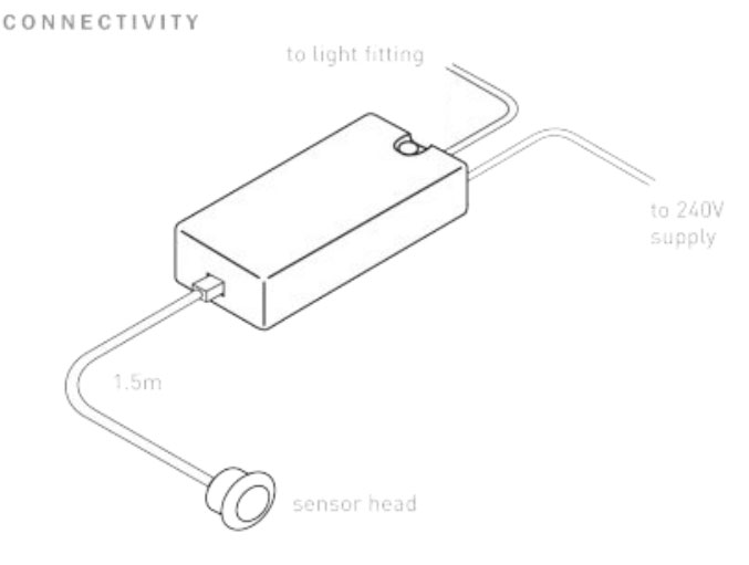 Mini PIR Motion Sensor Switch max. 250W, 10sec-3mins PIR
