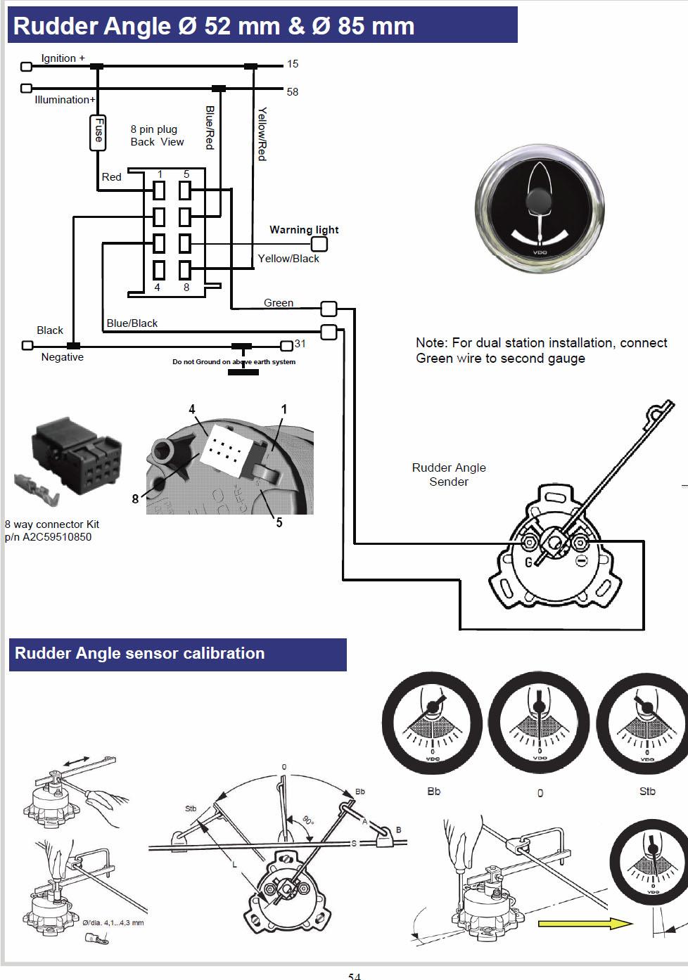 medium resolution of vdo rudder gauge wiring diagram wiring diagram expert vdo rudder angle indicator wiring diagram vdo rudder