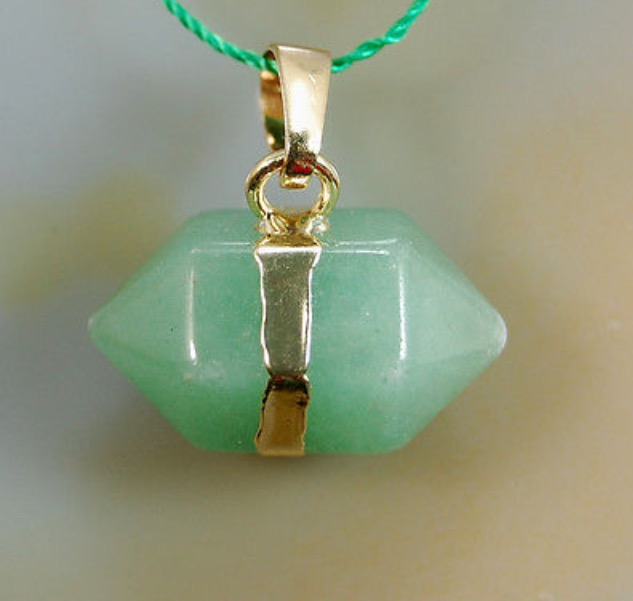 Natural Aventurine Prism Reiki Chakra Pendant with DNA Activation