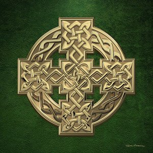 Gold Celtic cross