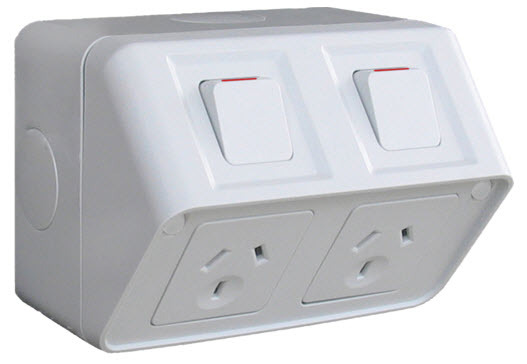 Home Power Points Weatherproof Power Points Clipsal Wsc2272x Double