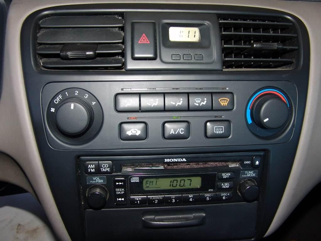 2002 Honda Accord A C Controls Inop