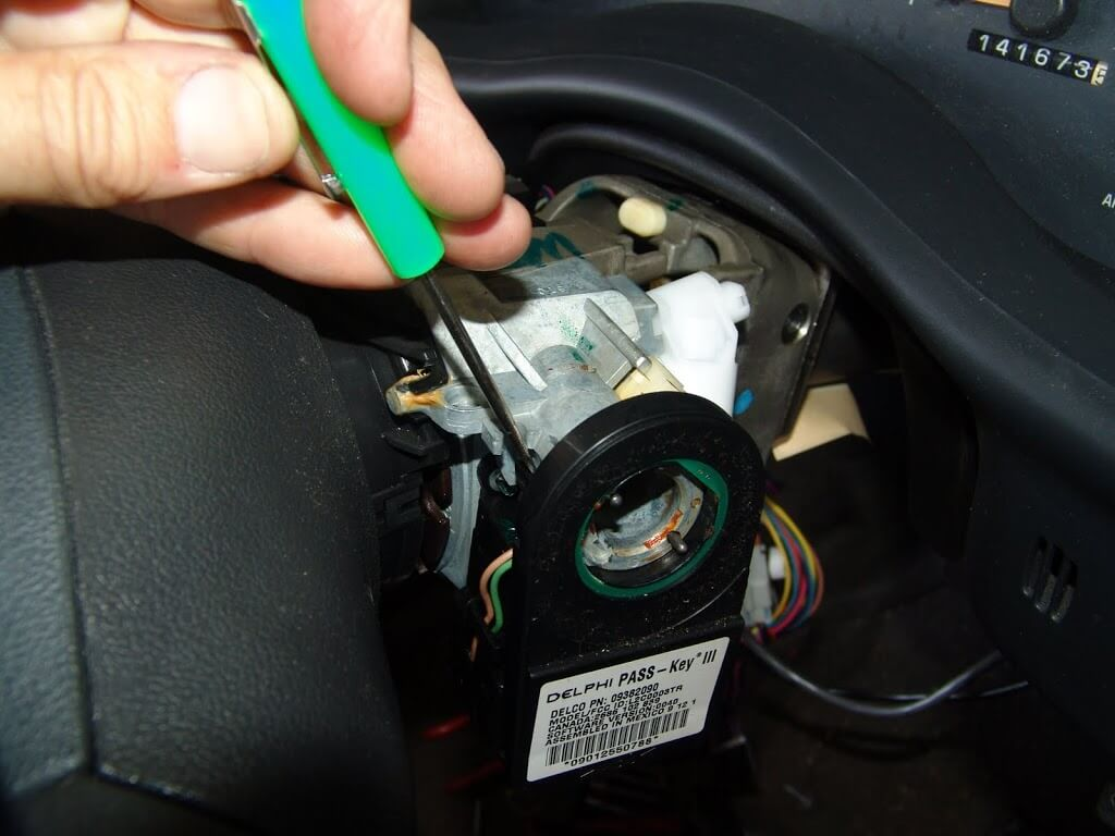 The Locking Tab For The Key Buzzer Switch Rotate And Remove The Switch