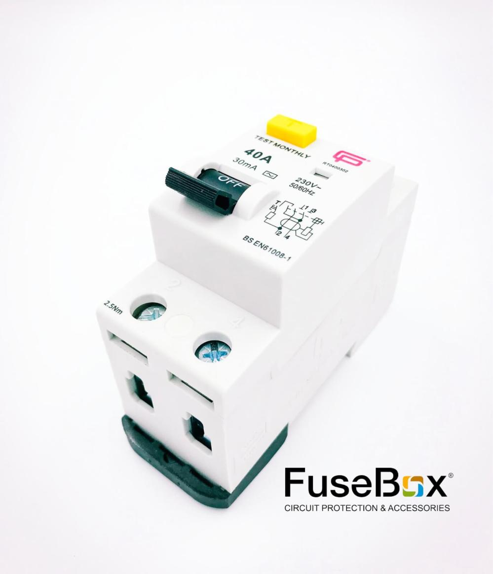 medium resolution of fusebox 40 amp 30ma 2p rcd ac rt0400302