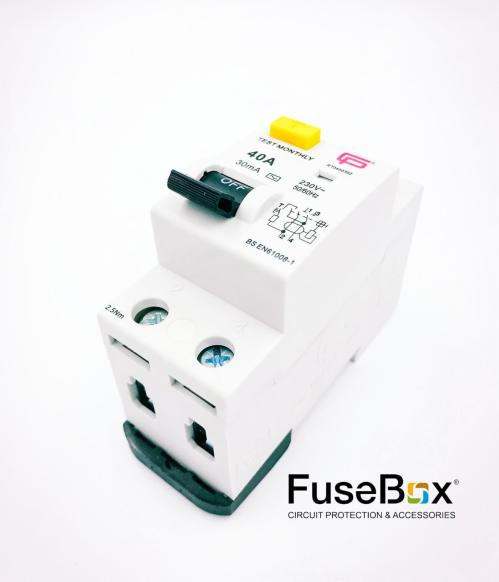 small resolution of fusebox 40 amp 30ma 2p rcd ac rt0400302