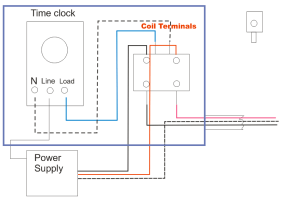 Wire Diagram For Time Clock  Wiring Diagram Sample