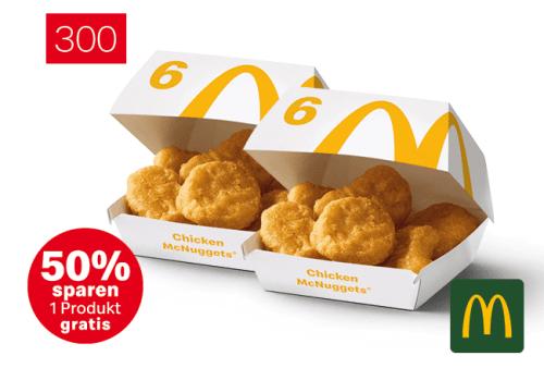 2x 6er Chicken McNuggets zum Preis von einem