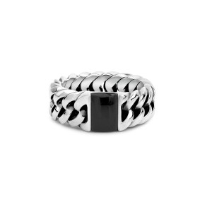 Chain Stone Onyx ring