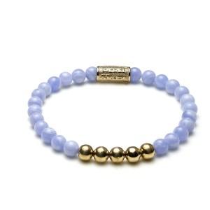 Armband Lavender Lila goud 6 mm