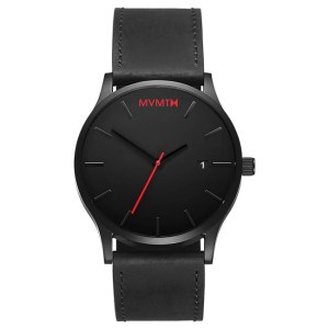 CLASSIC BLACK LEATHER HORLOGE (45 MM)