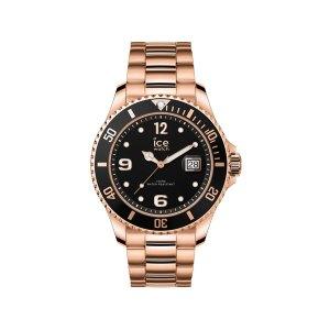 Ice Watch horloge - Ice Watch Steel rosékleurig met zwarte wijzerplaat - Te koop bij Sparnaaij Juweliers in Aalsmer