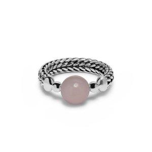 Buddha to buddha ring Batas Sphere Rozenkwarts - Te koop bij Sparnaaij Juweliers in Aalsmeer en Hoofddorp