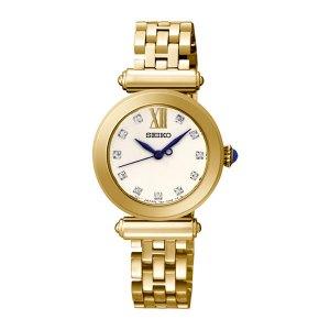 Dames horloge uit de Seiko collectie - voorzien van double kast en band en een quartz uurwerk - De Seiko collectie is verkrijgbaar bij Sparnaaij Juweliers in Aalsmeer en Hoofddorp