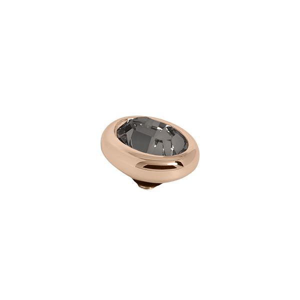 Melano Twisted oval swarovski Black Diamond - Te koop bij Sparnaaij Juweliers in Aalsmeer en Hoofddorp