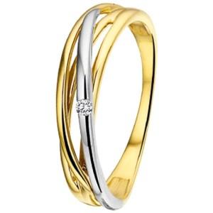 Ring diamant 0.02ct H SI
