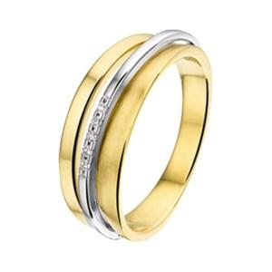 Ring diamant 0.03ct H SI