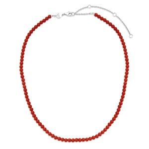 Ti Sento Koraal rood collier - Te koop bij Sparnaaij juweliers in Aalsmeer en Hoofddorp