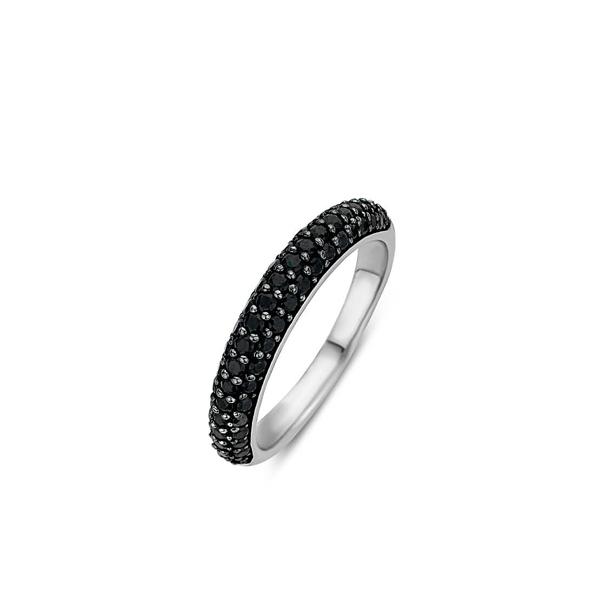 Ti Sento zilveren ring met een zwarte plating - Te koop bij Sparnaaij juweliers in Aalsmeer en Hoofddorp