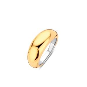 Brede goudkleurige ring van Ti Sento - Verkrijgbaar bij Sparnaaij juweliers in Aalsmeer en Hoofddorprede zilveren ring van Ti Sento - Verkrijgbaar bij Sparnaaij juweliers in Aalsmeer en Hoofddorp
