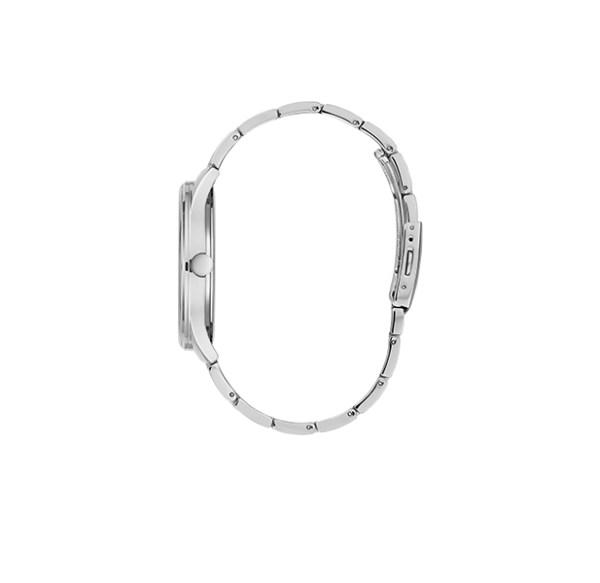 Guess herenhorloge W1180G3 - Zilverkleurige band en blauwe wijzerplaat - Te koop bij Sparnaaij Juweliers