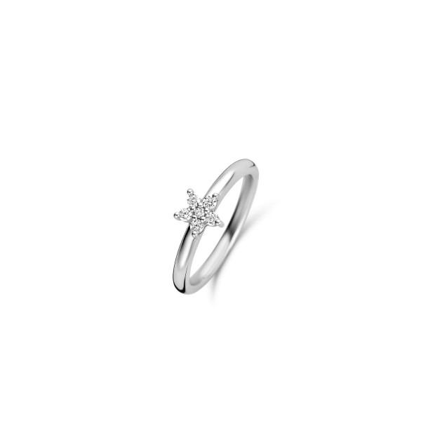 Zilveren ring van Ti Sento met ster vorm - Te koop bij Sparnaaij in Aalsmeer en Hoofddorp
