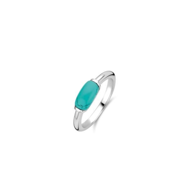Zilveren ring van Ti Sento met blauwe steen - Te koop bij Sparnaaij Juweliers in Aalsmeer en Hoofddorp