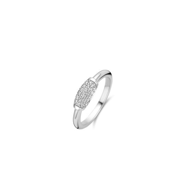 Zilveren ring van Ti Sento net zilveren zirkonia pavé - Te koop bij Sparnaaij Juweliers in Aalsmeer en Hoofddorp