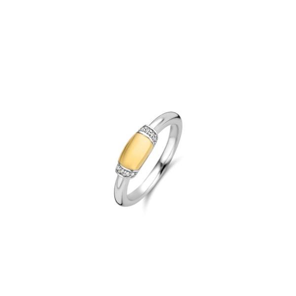 Zilveren ring van Ti Sento met 18k goudverguld middenstuk - Te koop bij Sparnaaij Juweliers in Aalsmeer en Hoofddorp