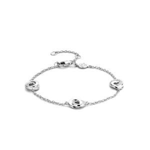 Zilveren armband van Ti Sento met zirkonia